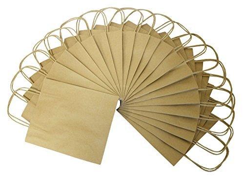 folia 22410 - Kraftpapiertüten, natur, 20 Stück, ca. 31 x 24 x 12 cm