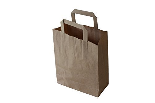 pgv papiertragetaschen mit flachhenkel braun 32 12 x 40 cm 100 stueck - Tragtasche - einfacher Transport und Werbeträger