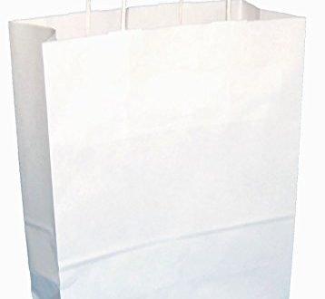 Thepaperbagstore 20 Weiß Drehgriff Papiertragetaschen 250 x 110 x 310mm - Wählen Sie Ihre Größe und Menge