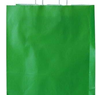 Thepaperbagstore 25 Grünen Drehgriff Papiertragetaschen 250 x 110 x 310mm - Wählen Sie Ihre Größe und Farbe