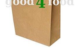 250 papiertragetaschen papiertuete in braun 3216x44 cm good4food 281x165 - 250 Papiertragetaschen Papiertüte in braun 32+16x44 cm - good4food