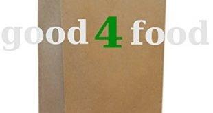 50 papiertragetaschen mit kordel kordeltragetasche in braun 2210x28 cm good4food 310x165 - 50 Papiertragetaschen mit Kordel - Kordeltragetasche in braun 22+10x28 cm - good4food