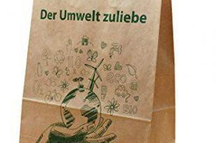 """250 Stück FSC Papiertragetaschen""""Der Umwelt zuliebe""""   32+16x44 cm   Tragkraft 10 kg"""