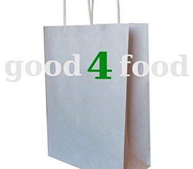 250 Papiertragetaschen mit Kordel Kordeltragetasche in weiss 2210x28 cm 375x330 - 250 Papiertragetaschen mit Kordel - Kordeltragetasche in weiß 22+10x28 cm - good4food