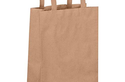 Dila GmbH 50 Papiertragetaschen in Braun Papiertaschen Henkeltaschen Tragetaschen 500x330 - Dila GmbH 50 Papiertragetaschen in Braun | Papiertaschen Henkeltaschen Tragetaschen Tüten Papiertüten recycelbar (22 x 10 x 28 cm)